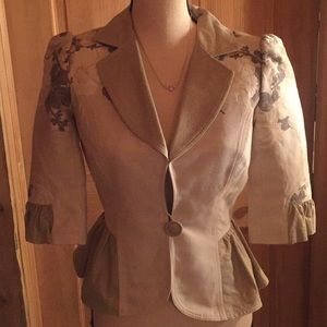 Louis Verdad cream and floral blazer small